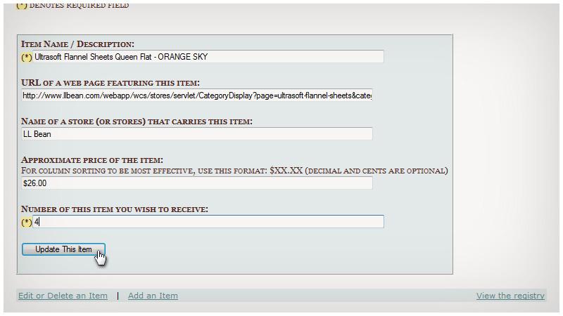 Wedding Registry Website.Demarco Interactive Portfolio Wedding Registry Website