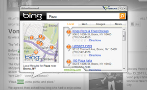 Bing Convenient Search, In-Text Advertisement