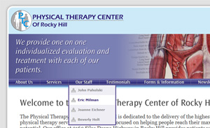 Physical Therapy Center of Rocky Hill Website